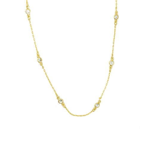 CZ Dot Necklace