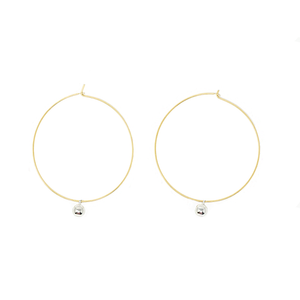 Steel Ball & Hoop Earrings