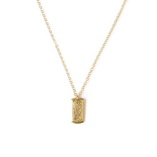 Art Deco Cufflink V Necklace