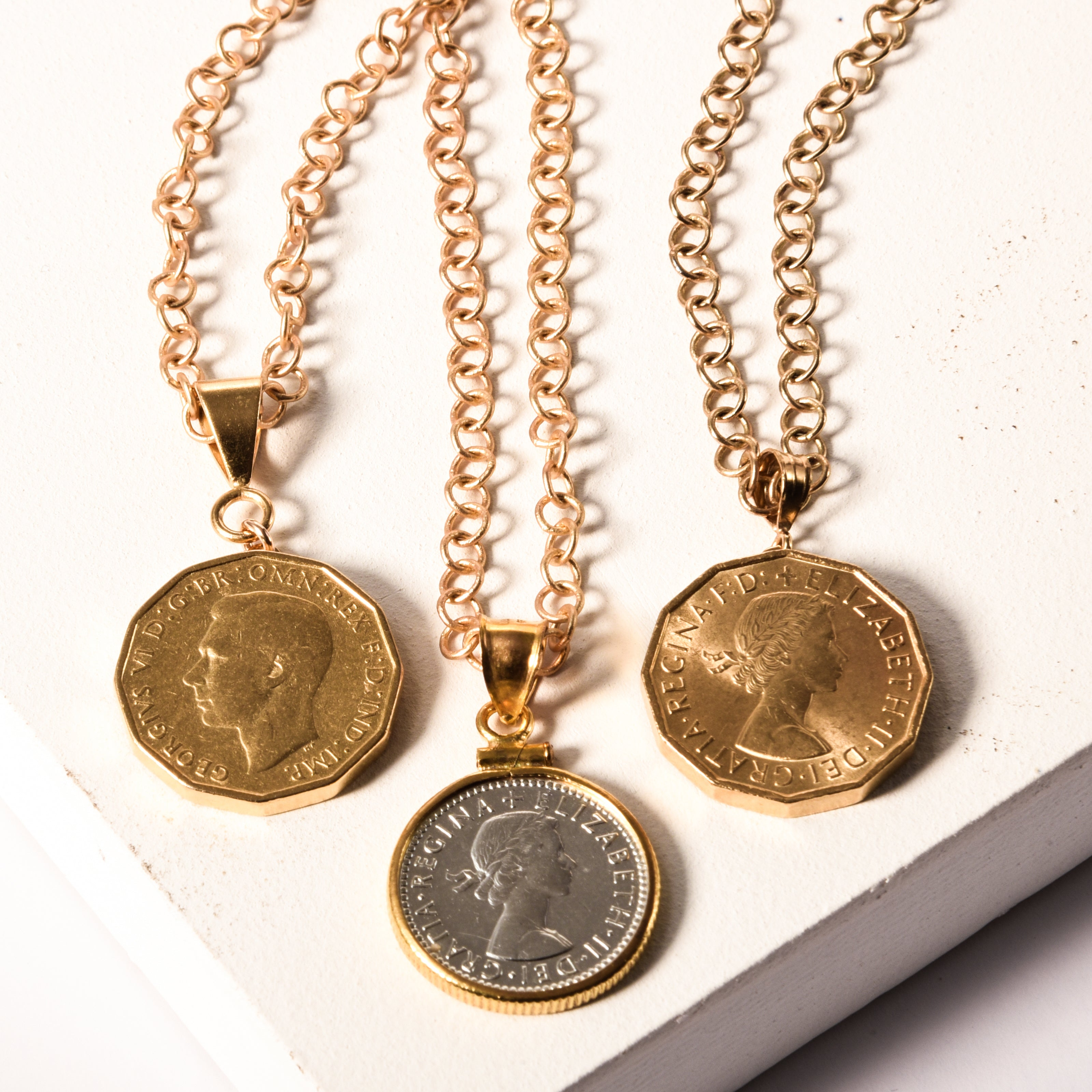 English Six Pence I Necklace