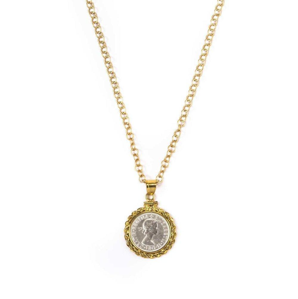 English Six Pence II Necklace