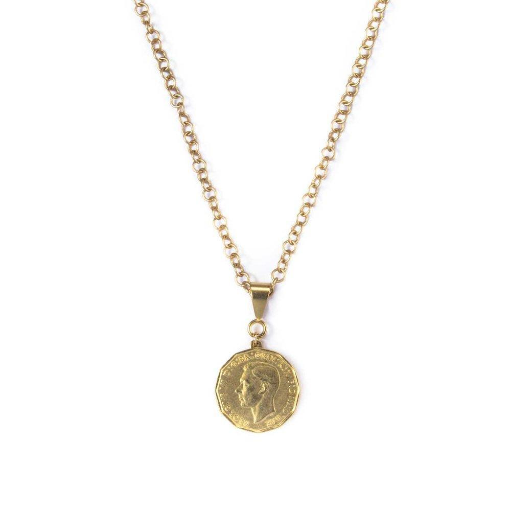 English Three Pence Necklace