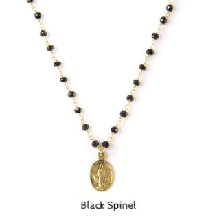 Mini Gold Mary Necklace