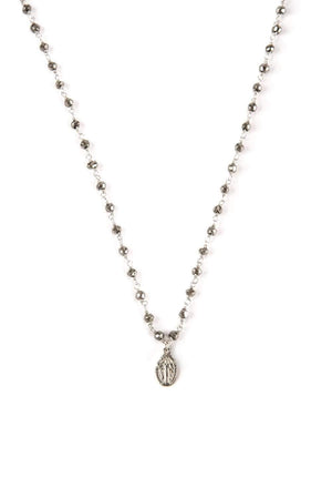 Mini Silver Mary Necklace