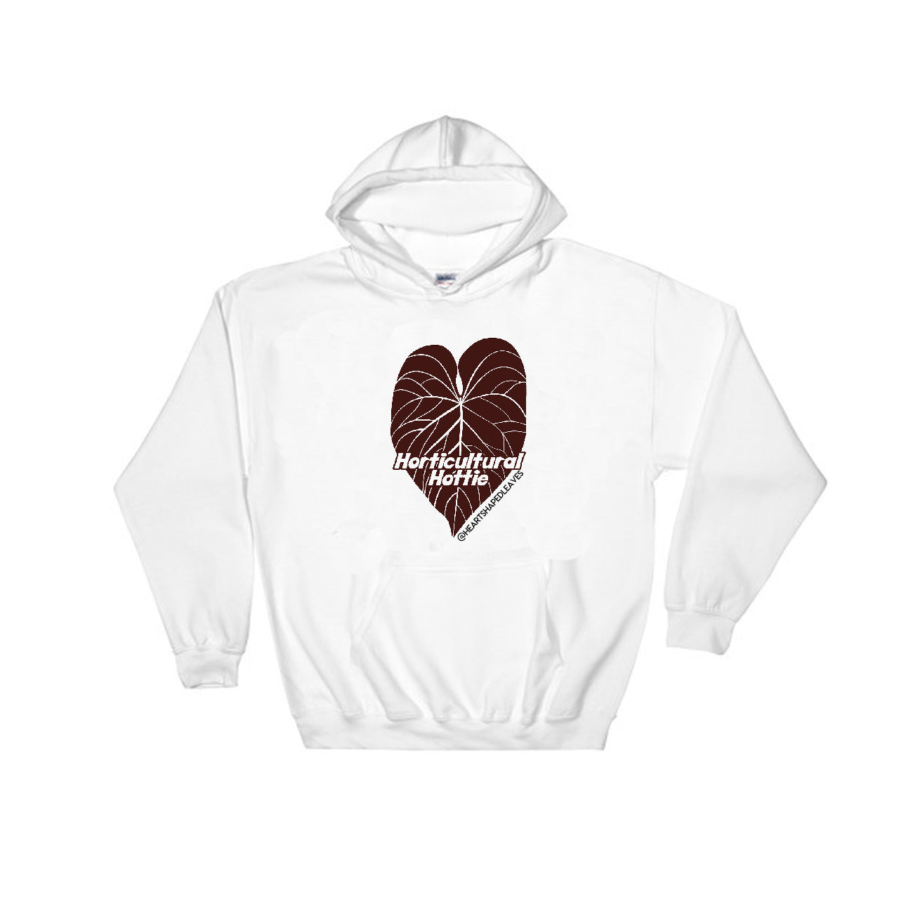 Horticultural Hottie Hoodie - Heart Shaped Leaves Merch