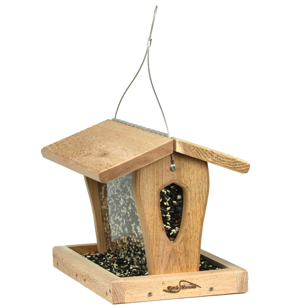 kettle moraine cedar hopper feeder side view