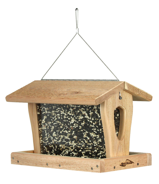 kettle moraine cedar hanging hopper feeder