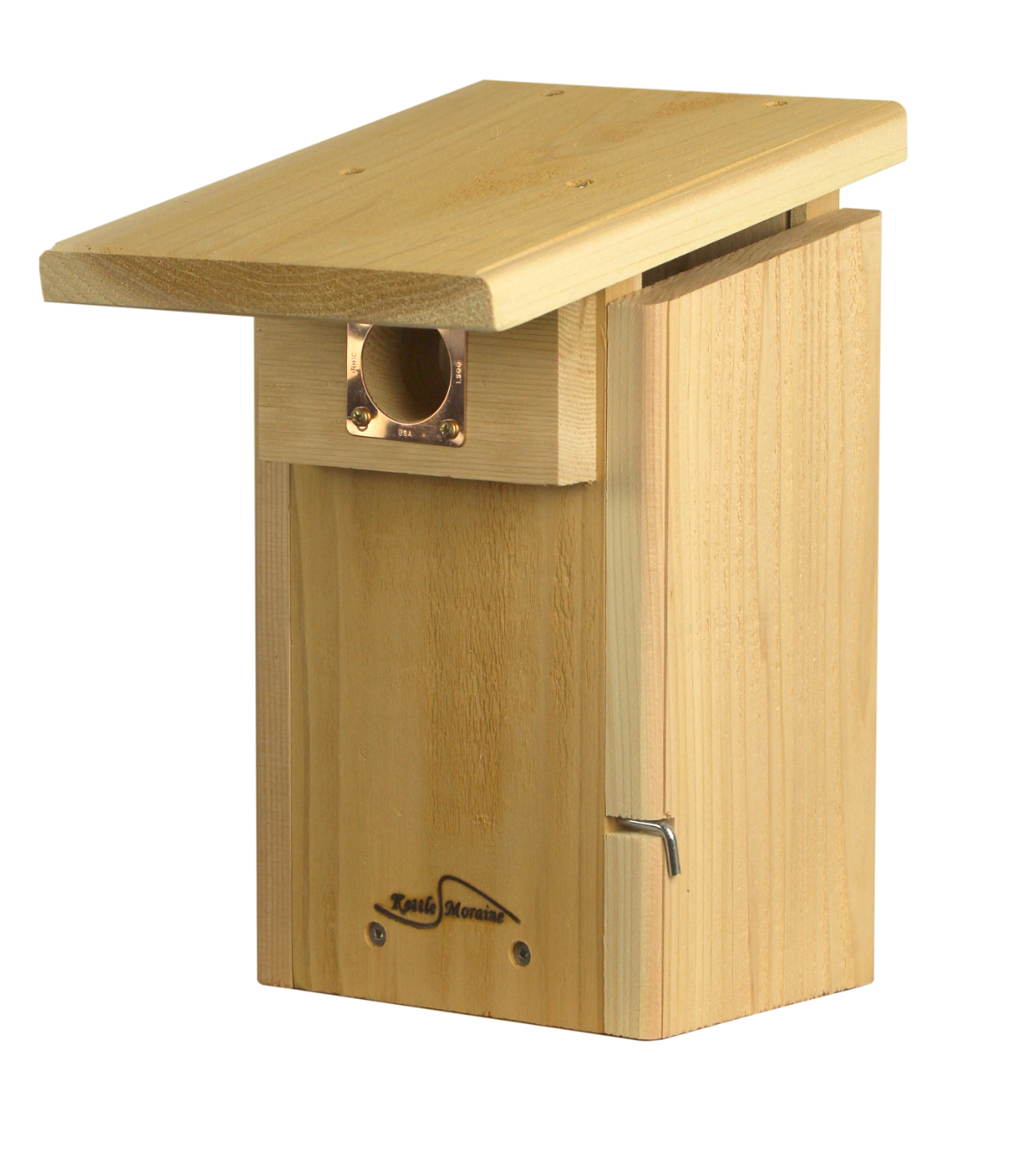 cedar bluebird nest box with viewing window