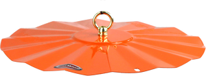orange powder coated steel roof for oriole feeders