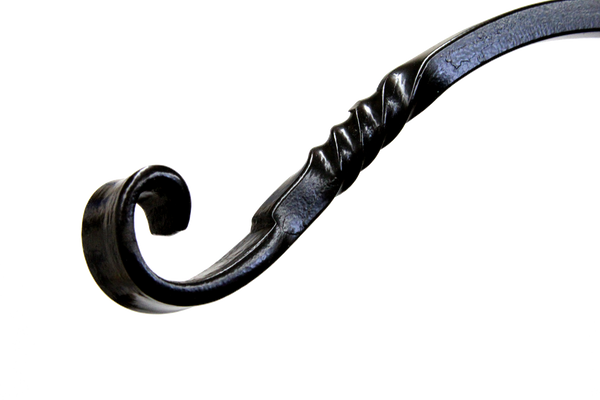 close up of wrought iron hook