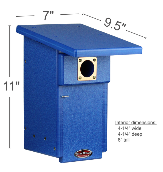 Recycled Bluebird Nest Box with Pole Package