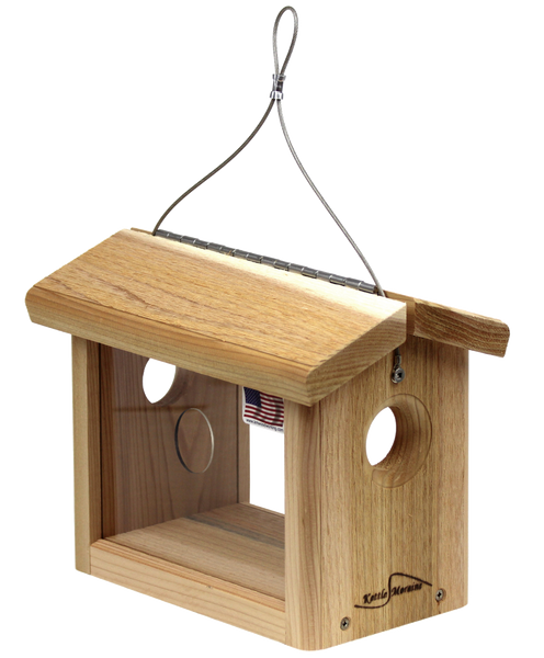 well-built cedar bluebird hanging feeder