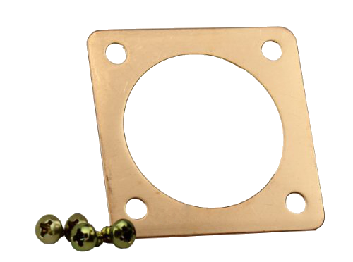 copper plate with screws for bird house