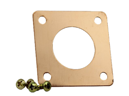 copper plate with screws for nest box