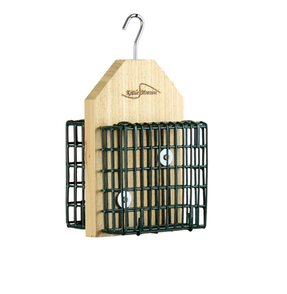 cedar hanging suet feeder with cages