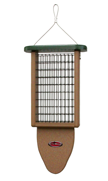 double kettle moraine suet feeder with tail prop