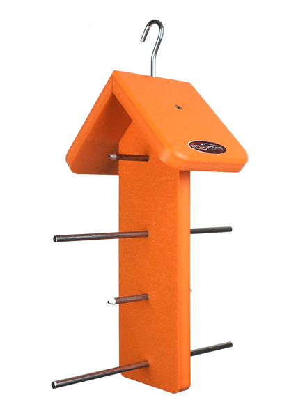 Recycled Orange Oriole Fruit Feeder (Double)