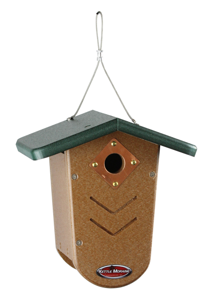 kettle moraine green roofed wren birdhouse