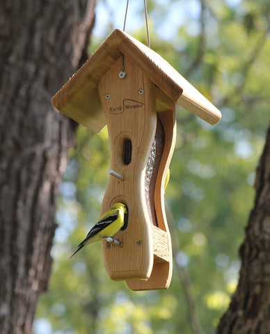 mini kettle moraine cedar wave feeder with goldfinch