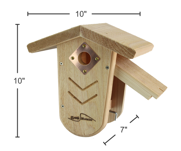 easy to clean chickadee and wren bird house