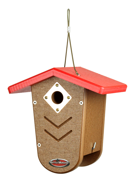 kettle moraine recycled nest box with red roof