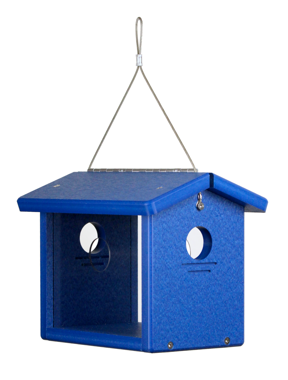 Recycled Hanging Bluebird Feeder