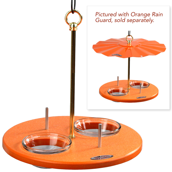 eco friendly bird feeder with and without roof