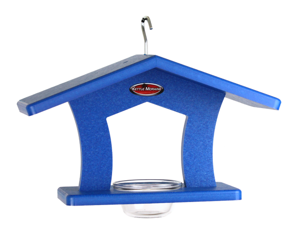 blue dish feeder for bluebirds