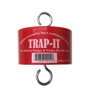 red trap protector for hummingbird feeder