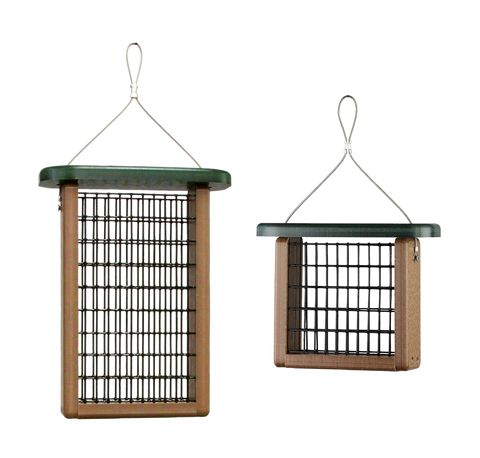 kettle moraine recycled suet feeders in two sizes