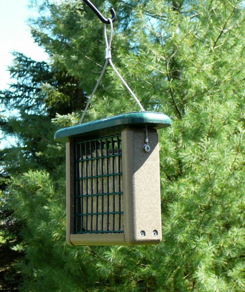 recycled hanging suet feeder