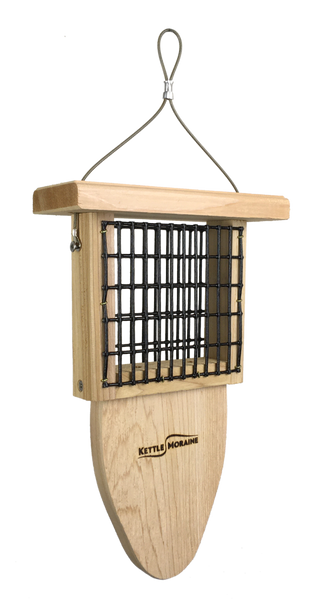 Cedar Suet Feeders with Tail Prop