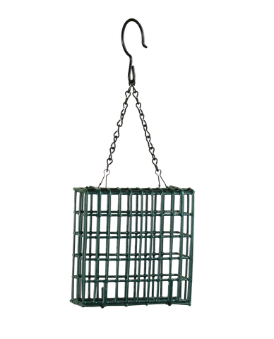 suet cage with hook for hanging