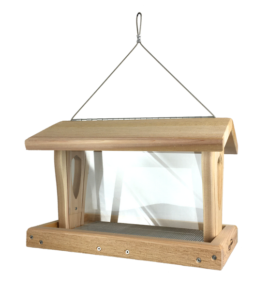 moraine cedar hopper feeder in large size for cardinals