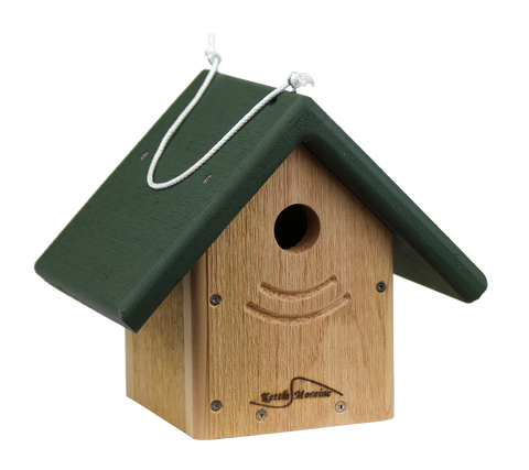 kettle moraine traditional nest box with green roof