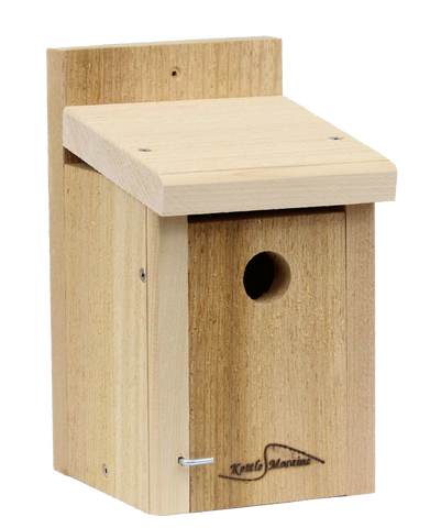 small cedar kettle moraine wren or chickadee nest box for mounting