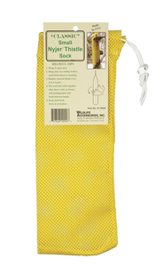 yellow nylon finch sock feeder