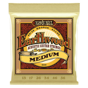 Ernie Ball EB-2002 Earthwood Bronze Medium 13-56 akustisen kitaran kielet