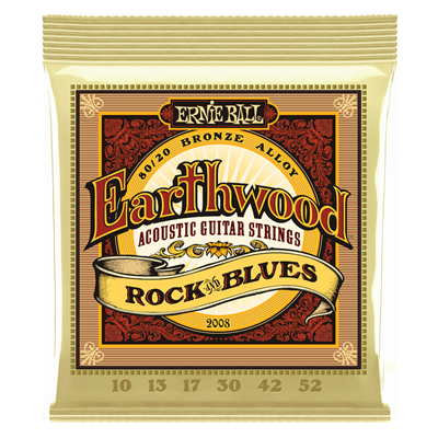 Ernie Ball EB-2008 Earthwood Rock & Blues 10-52 akustisen kitaran kielet