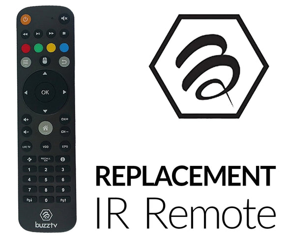 BuzzTV IPTV Factory Replacement Remote Control - BuzzTV Global