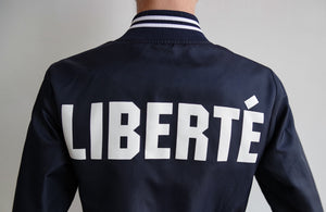 Liberté Oversized Bomber jacket in Navy Blue