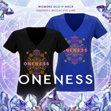 Load image into Gallery viewer, Oneness (Molecule) v-neck t-shirt