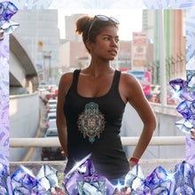 Load image into Gallery viewer, Hamsa Sigil Organic Cotton - Bamboo Racer Tanks - Yoga Wear