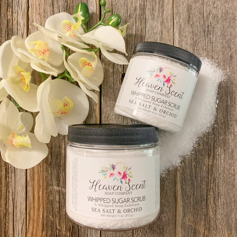Sea Salt & Orchid Whipped Sugar Scrub