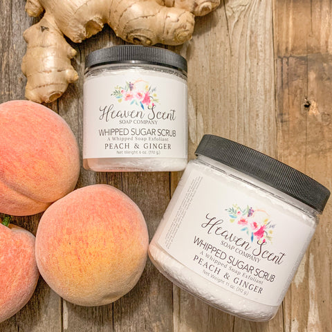 Peach & Ginger Whipped Sugar Scrub
