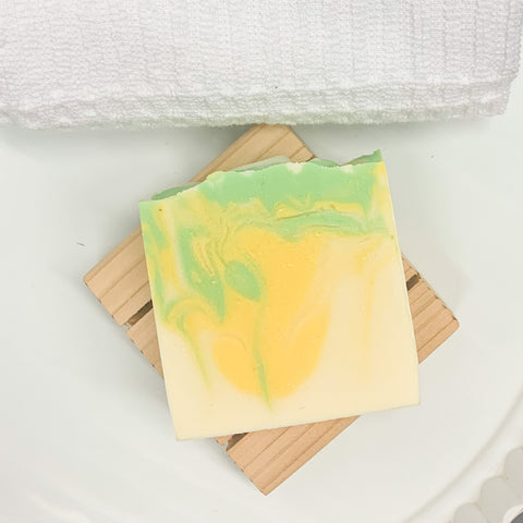 Coconut Lemongrass Goat's Milk Bar Soap