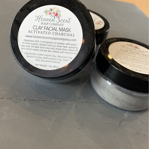 Activated Charcoal Clay Facial Mask