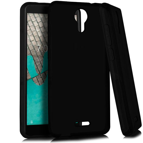 Flip Cover Stand Shell Black Oujietong Case for Wiko Ride//Ans Wiko Life 2 U307AS Cricket Icon//ATT Radiant Core//Ans Wiko Life C210ae Case Silicone TPU