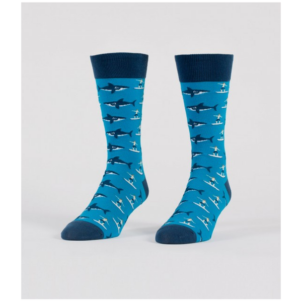 Sharks & Surfers Men's Crew Socks