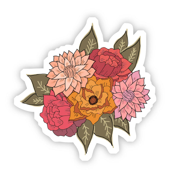 Red, Yellow, and Pink Floral Sticker